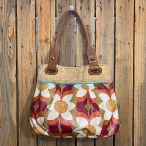Fossil Coated Canvas Tote